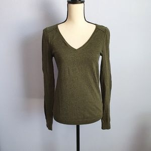Gap V Neck Wool Blend Long Sleeve Sweater Small